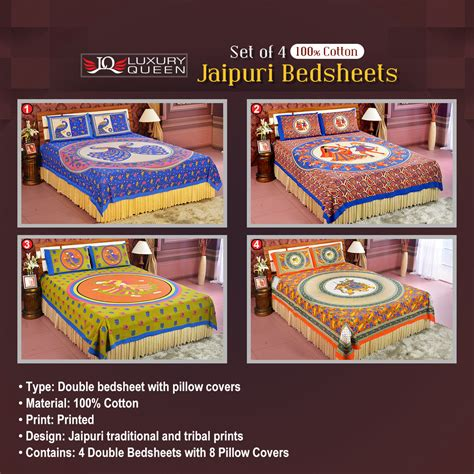 bedsheets buy bedsheets online at best prices in india buy pack of 4 jaipuri bedsheets 4ddbs2 online at best