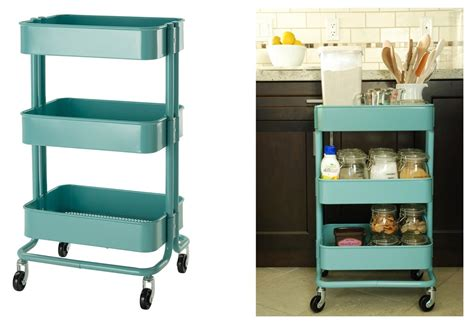 ikea rolling cart ikea raskog kitchen cart turquoise metal rolling storage