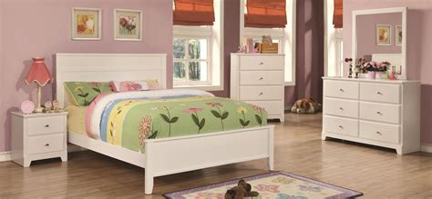 White Youth Bedroom Furniture by Ashton White Youth Panel Bedroom Set From Coaster 400761t