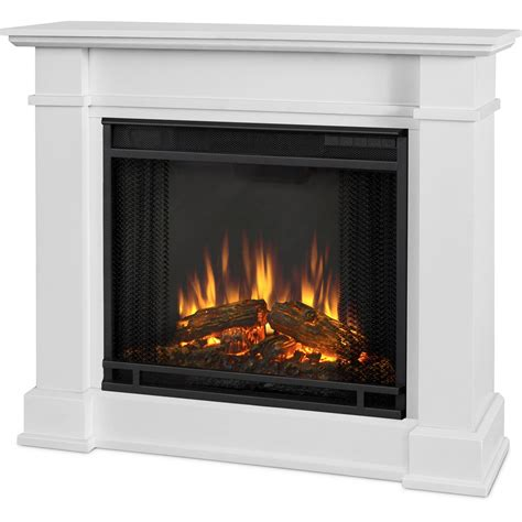 White Mantel Electric Fireplace by Real Devin 36 Inch Electric Fireplace With