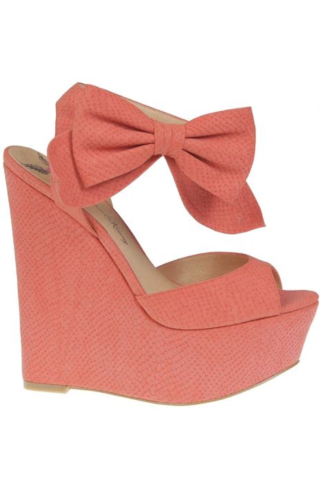 coral bow wedges kenny shoes shoes shoes