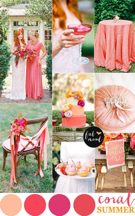 summer wedding color schemes coral wedding color combos color schemes for summer