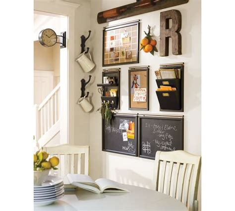 kitchen message center ideas build your own daily system components black pottery barn