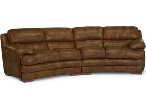 curved leather couch brown leather flexsteel curved sofa home decor ideas