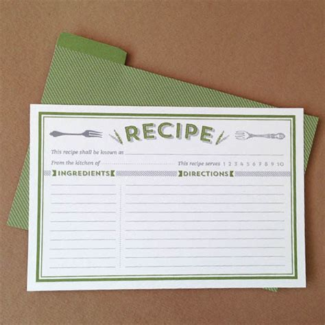 8 free recipe card templates excel pdf formats