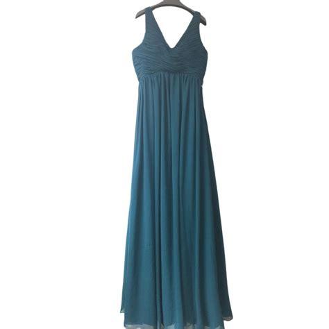 V Neck Sleeveless Evening Gown glamorous sleeveless v neck classic length evening gown