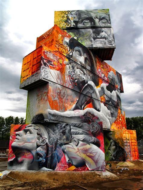 pichiavo graffiti art  greek mythology scene