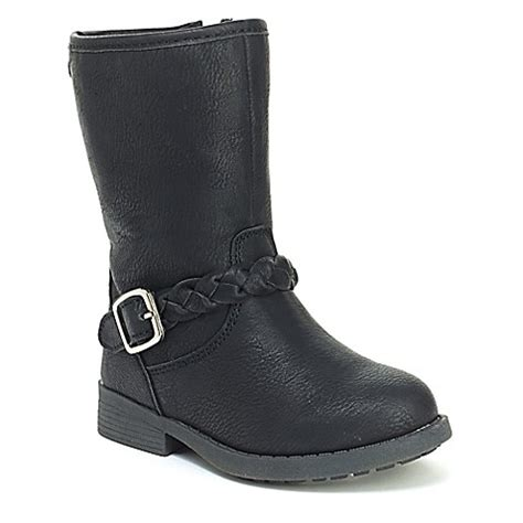 oshkosh boots oshkosh b gosh 174 boot in black buybuy baby
