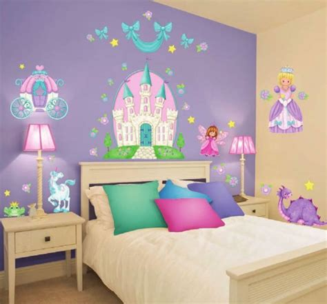 train bedroom decor bedroom ideas 37 new princess wall decals castle carriage fairy unicorn