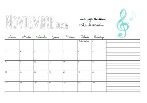 Calendario S Cecilia Marthibis Calendario Descargable Noviembre 14