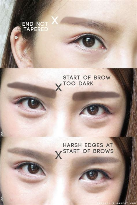 korean eyebrow makeup tutorial 28 best straight brows how to images on pinterest