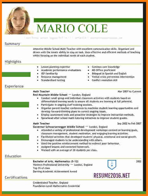 Resume Templates For Us 5 Cv Templates 2016 Ledger Paper