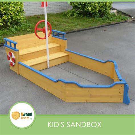 wooden boat playground plans 25 best ideas about wooden sandbox on pinterest toddler