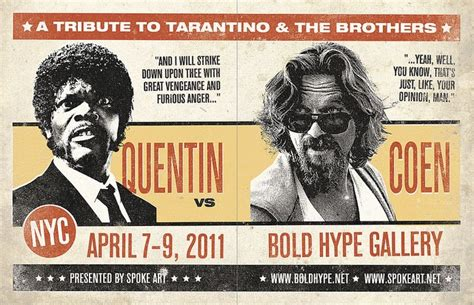 an art show tribute to the films of tarantino and the coen an art show tribute to the films of tarantino and the coen