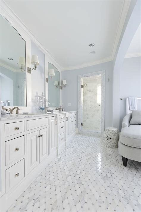 blue and white bathroom interior design inspiration photos by meredith heron design