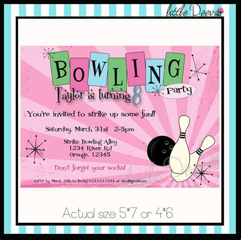 free printable postcard party invitations top 13 free printable bowling birthday party invitations