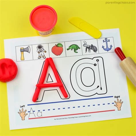 Letter Playdough Mats by Watermelon Play Dough Parenting Chaos