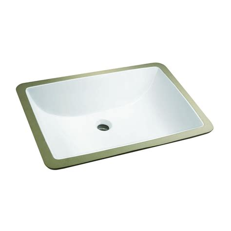 glacier bay bathroom sinks glacier bay rectangle undermounted bathroom sink in white