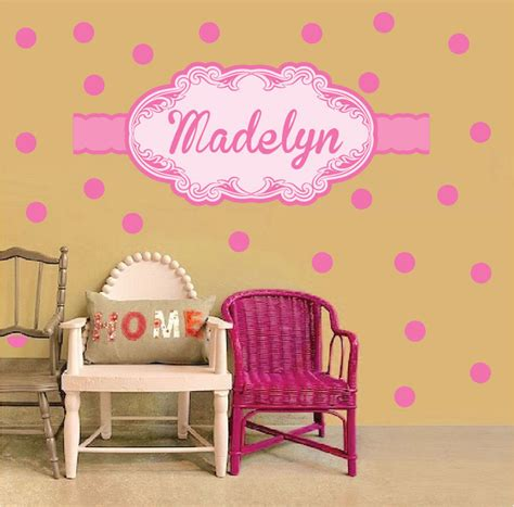 custom name wall decal pink wall stickers for