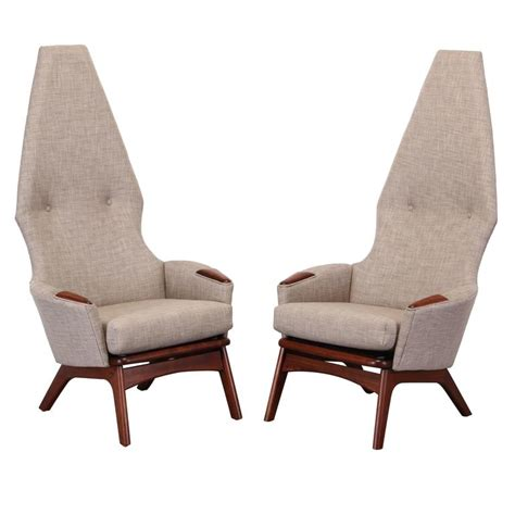 adrian pearsall chair for sale adrian pearsall pair of walnut high back chairs for craft