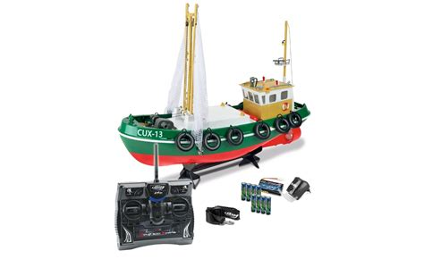 Kapal Boats Rc Sound Light carson fishing boat with 6 channel lights sound ready