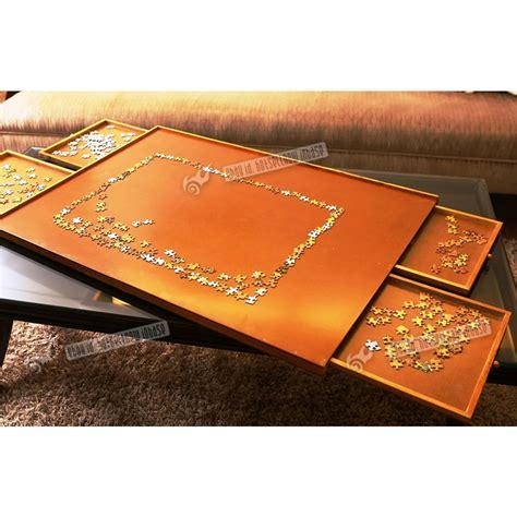 Portable Puzzle Mat by 1000 Pcs Jigsaw Puzzle Mat Storage Table Wooden Portable
