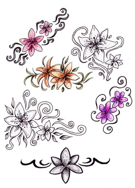 little flower tattoo designs flower drawings flower designs by niuniente on