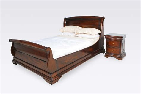 King Size Sleigh Bed Frame Normandie Mahogany 5ft King Size Sleigh Bed Frame Upstairs Downstairs