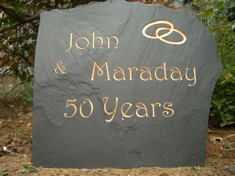 Wedding Anniversary Stones by Engraved Gifts For Weddings And Christenings