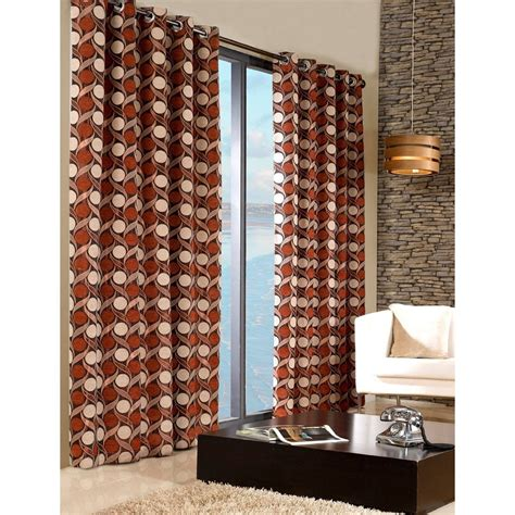 Patterned Curtains Living Room by Chenille Patterned Fully Lined Eyelet Ring Top Curtains