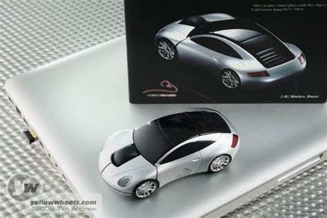 Mouse Wireless Audi motormouse drive a porsche on your desktop
