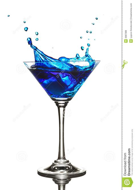 drink splash blue curacao cocktail splash royalty free stock photos
