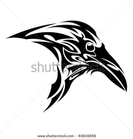 tribal raven tattoos celtic on outline drawing