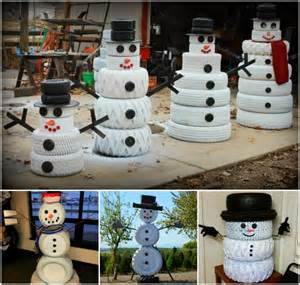 How to make a tire snowman pictures photos and images for facebook
