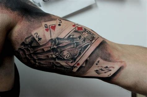 playing card tattoo 15 high class card tattoos tattoodo