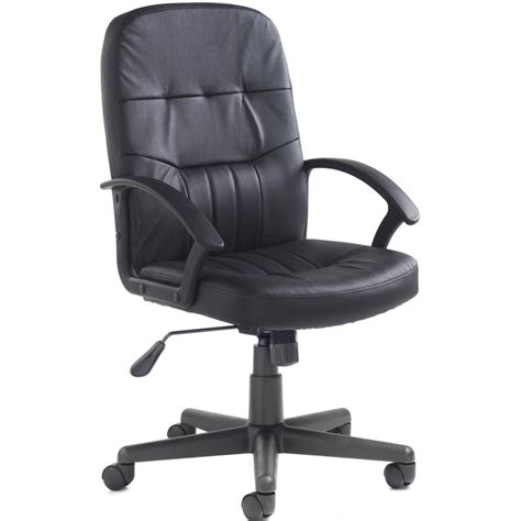 Black Leather Office Chair by Cavalier Black Leather Office Chair