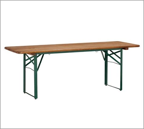 Pottery Barn Tavern Folding Dining Table Bench Set