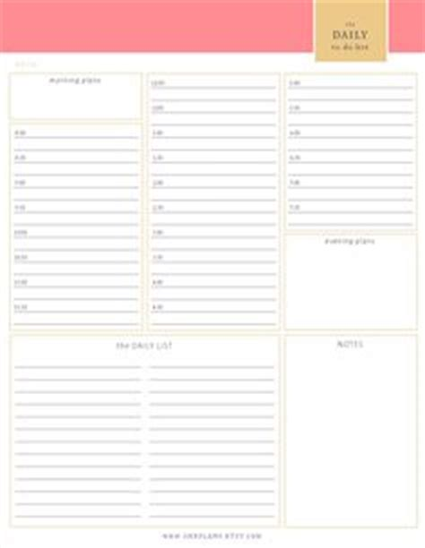 Free Printable Daily Planner 15 Minute Intervals