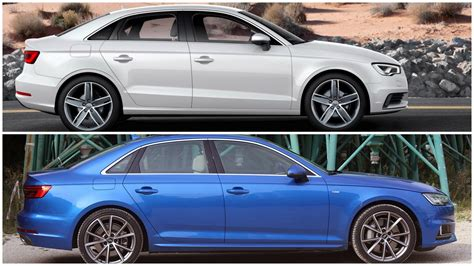 audi a3 sedan vs audi a4 2017 audi a3 sedan rear angle picture size 1280 x 800