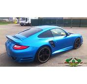Porsche 997 Turbo  Light Blue Metallic Wrappsta Berlin