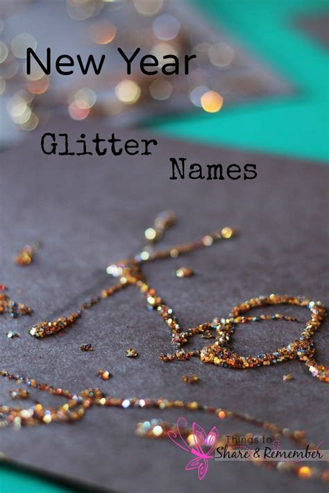 new year glitter names name writing in preschool