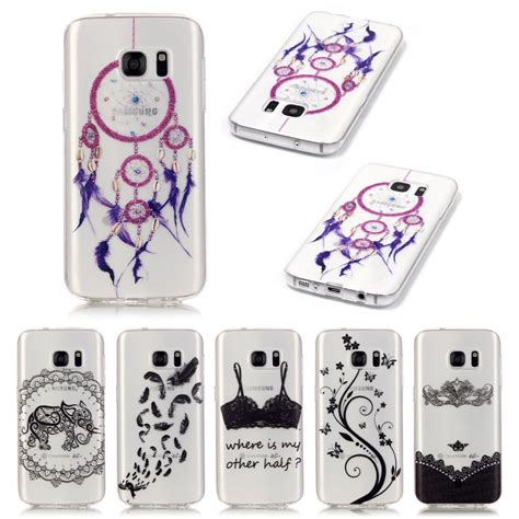 Softcase Silicone Transparant Flower Back Samsung Galaxy S7 Edge for coque samsung galaxy s7 cover silicone soft tpu back cover samsung galaxy s7 edge