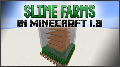 minecraft tutorial slime farm minecraft slime farms in 1 8 youtube