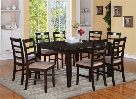 6 Seat Dining Table Set Pc Square Dinette Kitchen Dining Table Set 6 Cushion Chairs Seat In Dining Decorate