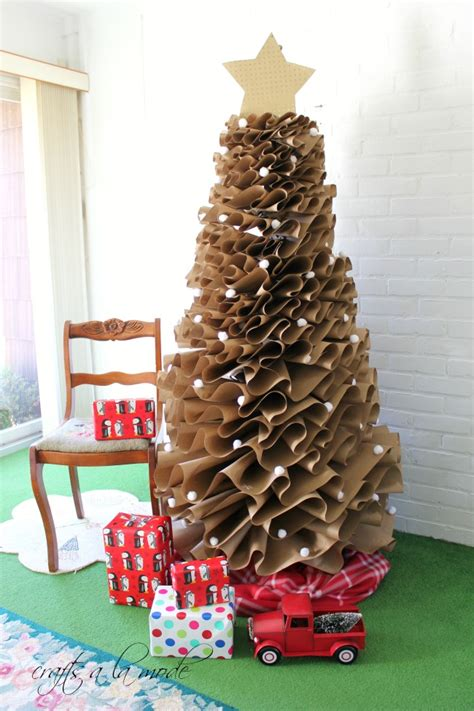 christmas tree out of paper 19 tree themes c r a f t