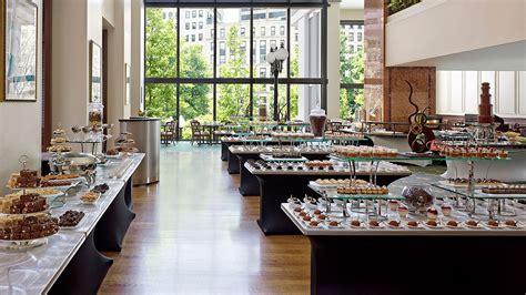 chocolate buffet at boston luxury hotel the langham boston