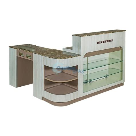 reception desk with nail table