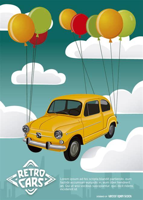 Fliegen Im Auto by Fliegen Retro Auto Der Kostenlosen Vektor
