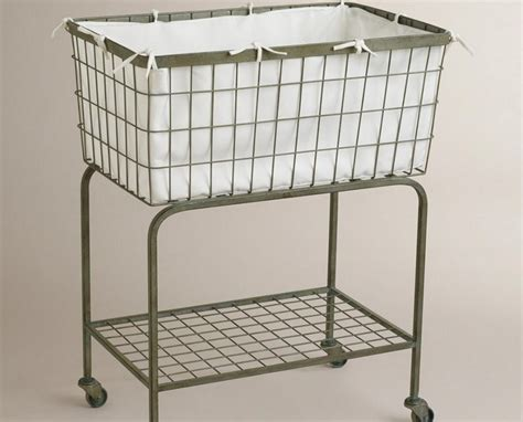 laundry on wheels wire laundry basket on wheels copper laundry