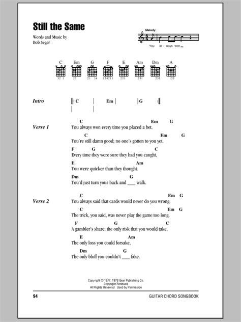 Doors Madly Chords by Still The Same By Bob Seger Guitar Chords Lyrics